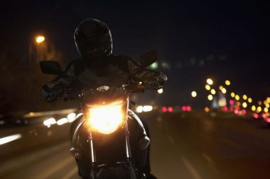 how to ride a motorcycle safely at night